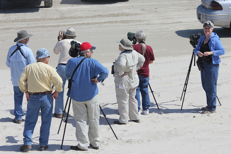 March 12, 2011 (Port Aransas Beach / Nueces County, Texas) - Missouri Birdwatchers plus one from Tucson [Mary Anne on right]