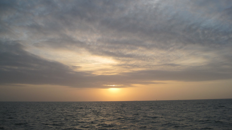 "March 13, 2011 (Aransas National Wildlife Refuge / Calhoun County, Texas) - Sunrise from our cruise on the ""Skimmer"""