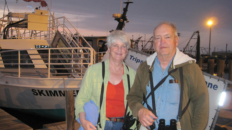 "March 13, 2011 (Aransas National Wildlife Refuge / Calhoun County, Texas) - Mary Anne & David ready to embark on a three hour cruise on the ""Skimmer"""