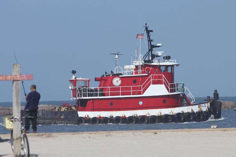 March 12, 2011 (Port Aransas Jetty / Nueces County, Texas) - Tugboat
