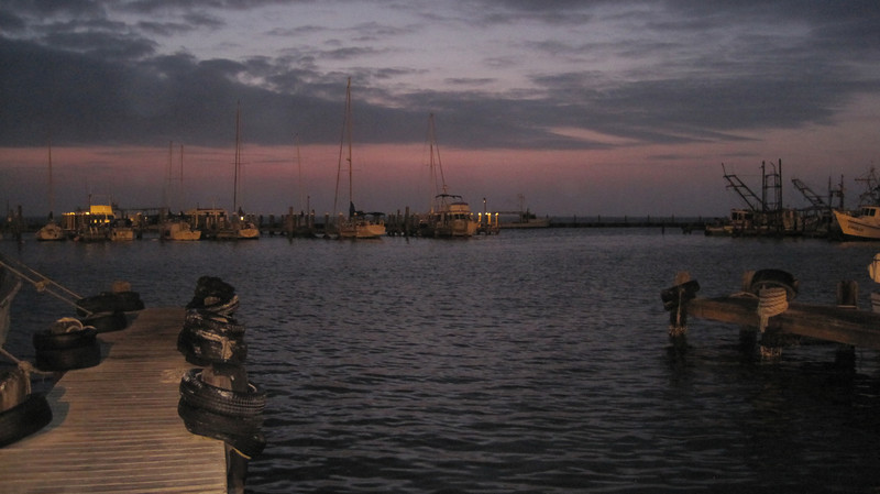 March 13, 2011 (Aransas National Wildlife Refuge / Calhoun County, Texas) - Sunrise before departure