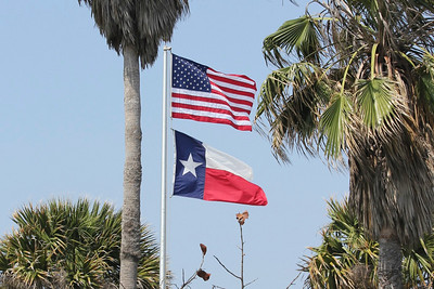 March 2011 (Texas) - United States & Texas State flags