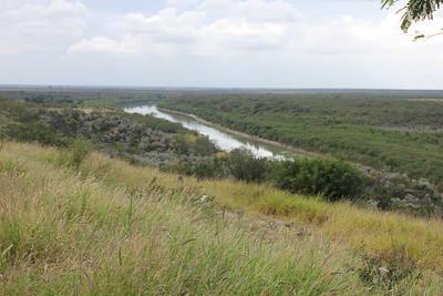 November 6, 2013 - (Highway 83 [Rest Stop] / Zapata County, Texas) -- Rio Grande