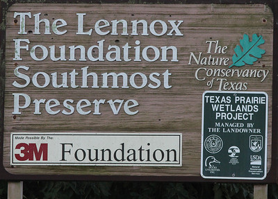 November 9, 2013 - (Southmost Preserve / Brownsville, Cameron County, Texas) -- Signage