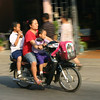 Children on a motorcycle