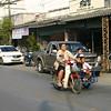 Children in a sidecar in Bo Sang