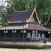 An ornate roof seen from the Chao Phraya Tourist Boat