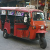 A hotel shuttle, one step up from a tuk-tuk