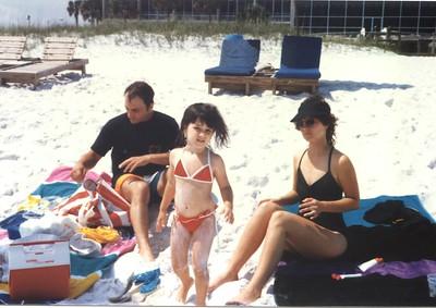 Gabe Jr., Alaina & Cindy, Navarre Beach Fla. 1987