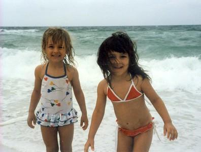 Harmony & Alaina Navarre Beach June 1987