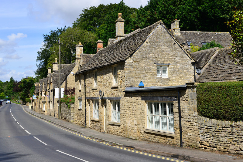 View of Bibury<br /> Many of the buildings pictured are small shops