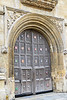 The door to the Old Bodleian Library of Oxford University,