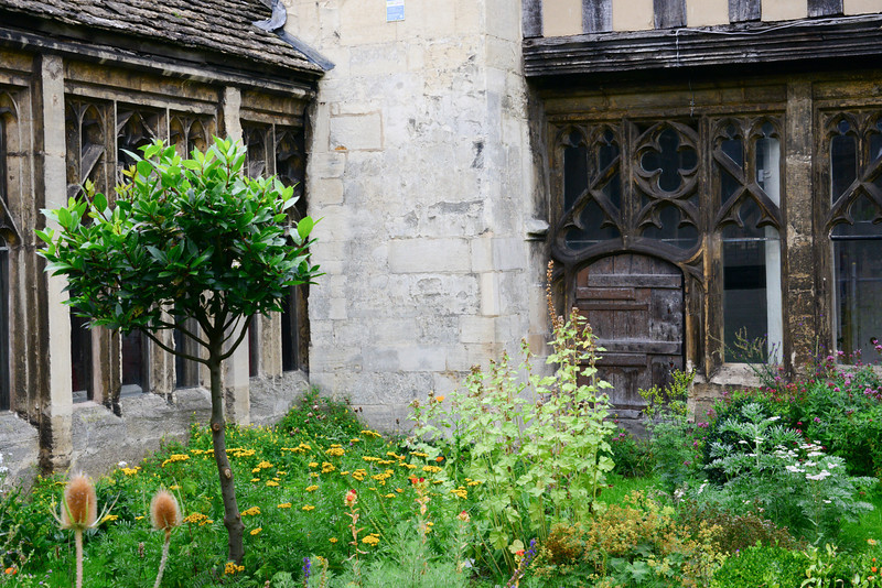 Garden near the Gloucester Cathedral Cloister