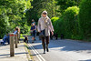 Jenny walking the streets of Castle Combe