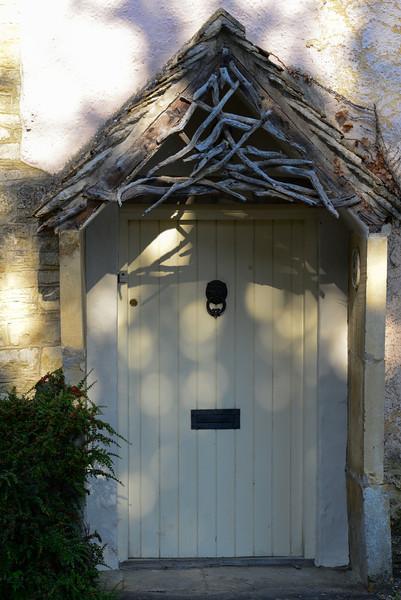 Door in Castle Combe on Weavers' Cottages, Water Lane