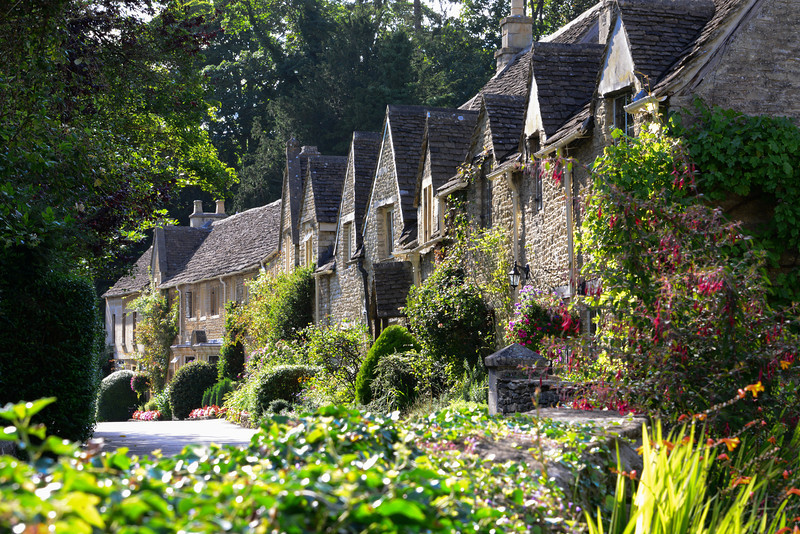 The village houses are all of typical Cotswold type, constructed in stone with thick walls and roofs made from split natural stone tiles. The properties are many hundreds of years old and are listed as ancient monuments. Strict rules apply to preserve the beauty and character of Castle Combe for later generations to admire.