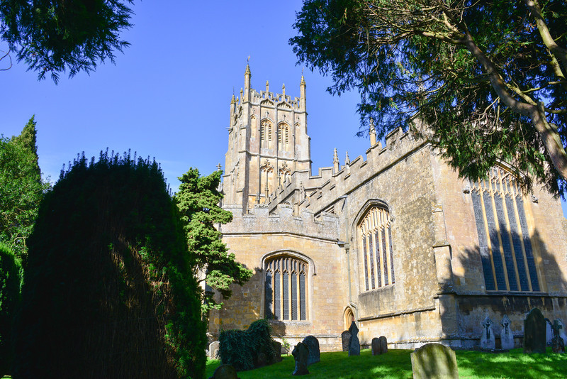St James' Church is situated in the north of the town. It is an early perpendicular wool church, rebuilt in the 15th century by the town's wool merchants.