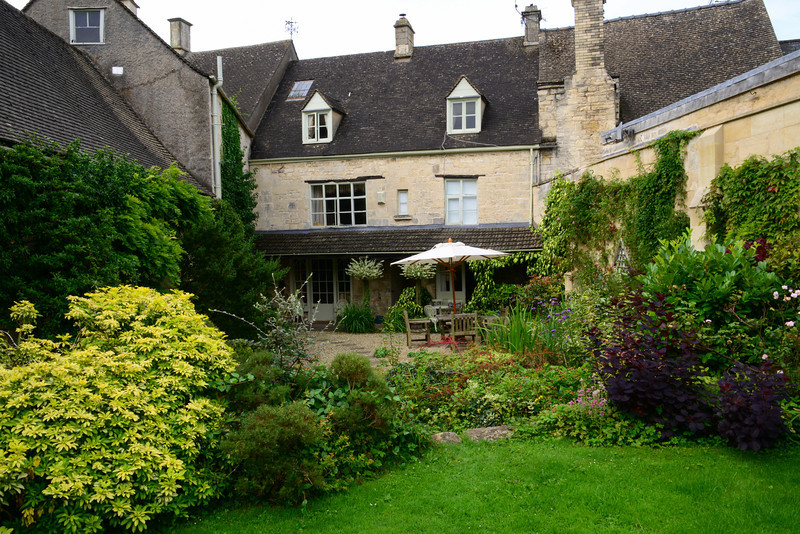 Garden area of Byfield House in Painswick