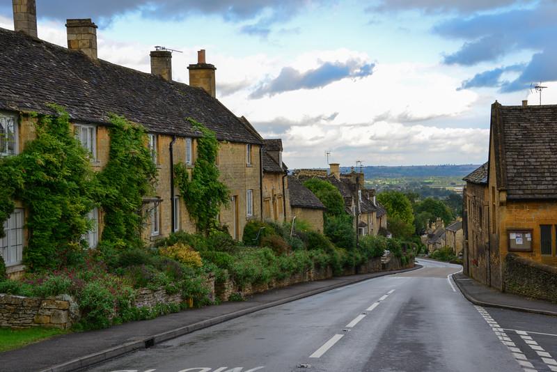 Main street of Burton on the Hill