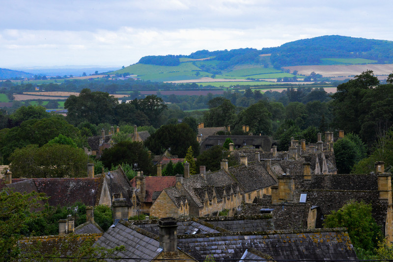 View of the village of Stanton from the Mount Inn