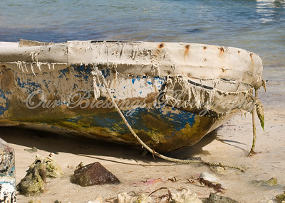 This boat was washed up along with the conch shells at Coki Beach, St. Thomas U.S. Virgin Islands.