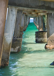 Under the pier in Ft. Lauderdale