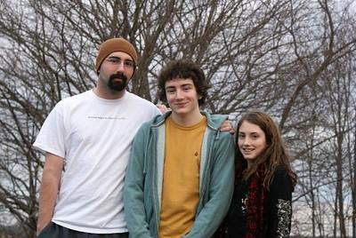Steve, Josh and Bea. Christmas Break 2008