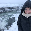 Amy Maron by the Gullfoss waterfall.