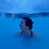 Amy Maron at the Blue Lagoon, Iceland.