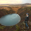 Amy Maron by the Kerid Crater, Selfoss, Iceland.