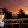 Even and a sunset at Fridays in Boracay, Philippines