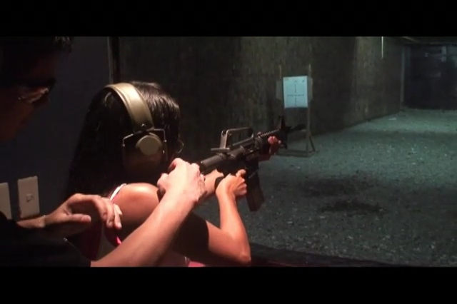 Even shooting the M16 at Plantation Bay in Cebu Philippines