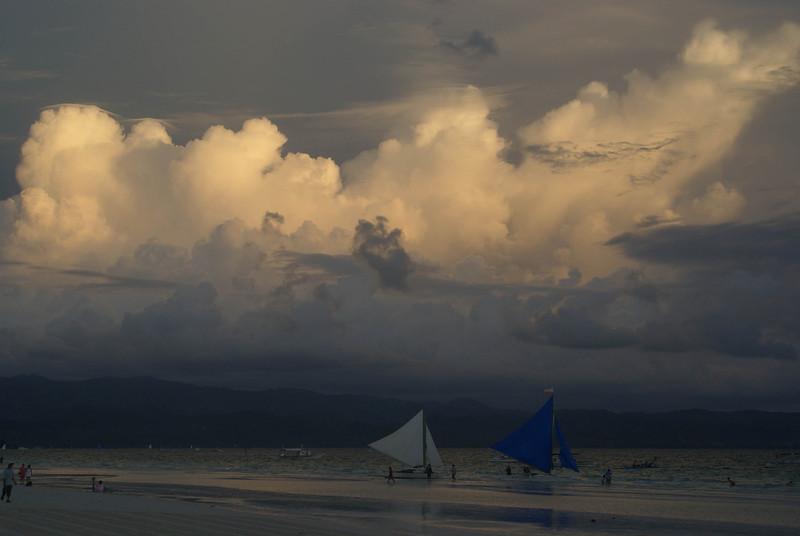 Sunset at Fridays Boracay, Philippines