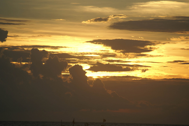 Sunset at Fridays Boracay, Philippines