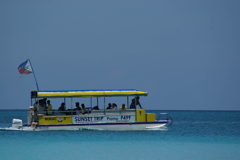 A tour boat at Fridays in Boracay, Philippines