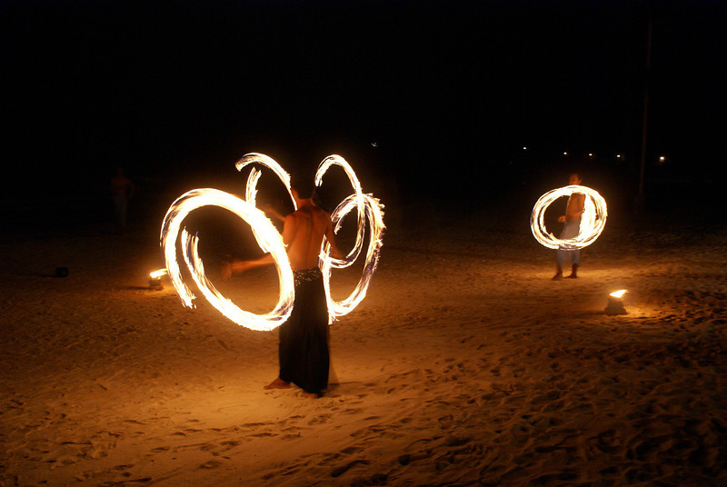 The fire dancers at Fridays in Boracay, Philippines