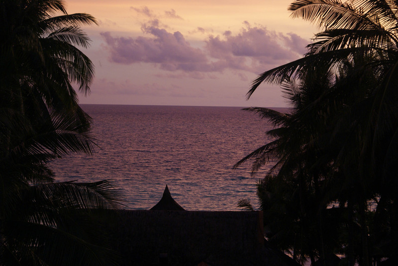 A sunset at Fridays in Boracay, Philippines