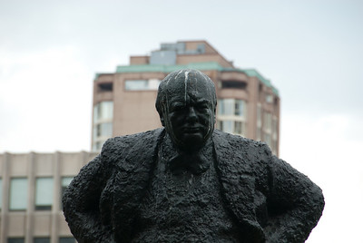 Sir Winston Churchill has certainly had better days. Apparently the pidgeons don't think much of him...