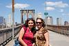Judy and Francesca on the Brooklyn bridge.