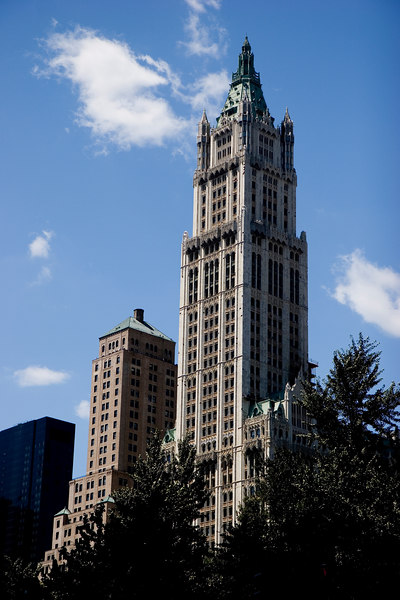 The Woolworth Building, completed in 1913.