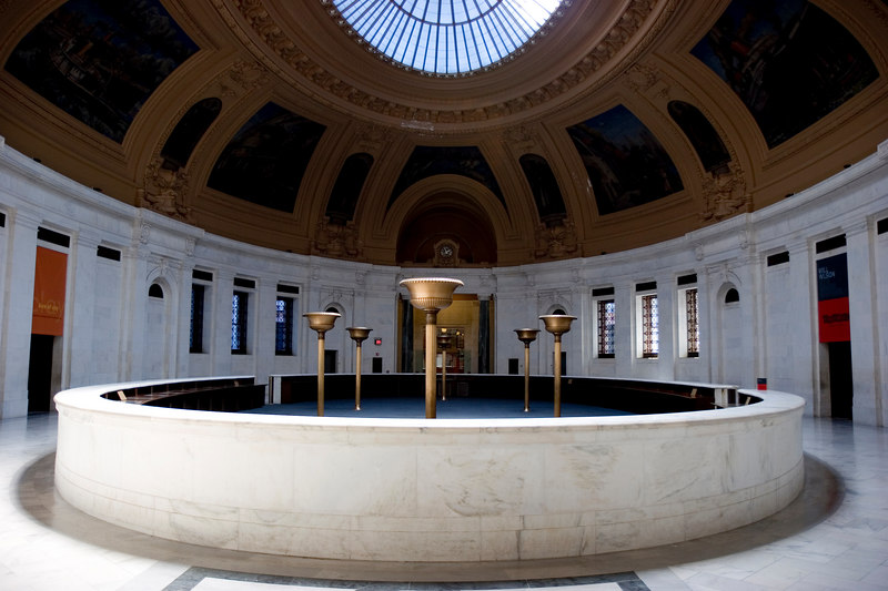 Inside the Alexander Hamilton U.S. Custom House, the home of the National Museum of the American Indian.