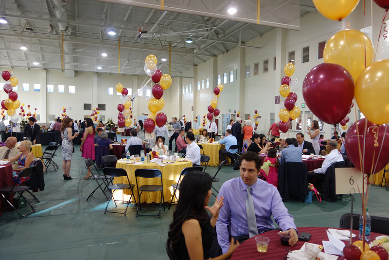 The Business Department held a Gala between the Eucharistic Liturgy and Commencement