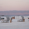 The shelters for a picnic at White Sands.  Most of the crowd left while some of us stayed for the sunset.