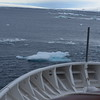 In the Antarctic Sound.  A huge amount of ice and icebergs.