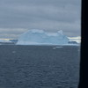 Looking at an iceberg throuh our cabin window.  In the Antarctic Sound.