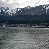 Leaving Ushuaia, Agentina.  It's th most southerly city the world.  More than 90% of the ships going to Antarctica leave from Ushuaia.
