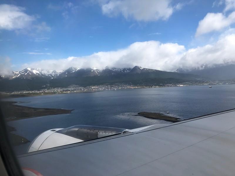 Flying into Ushuaia