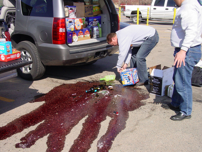 Trek to Brek 2008 started out ominously, when the Captain did the unthinkable. . . he abused alcohol by letting it fall from the tailgate of the liqour wagon.