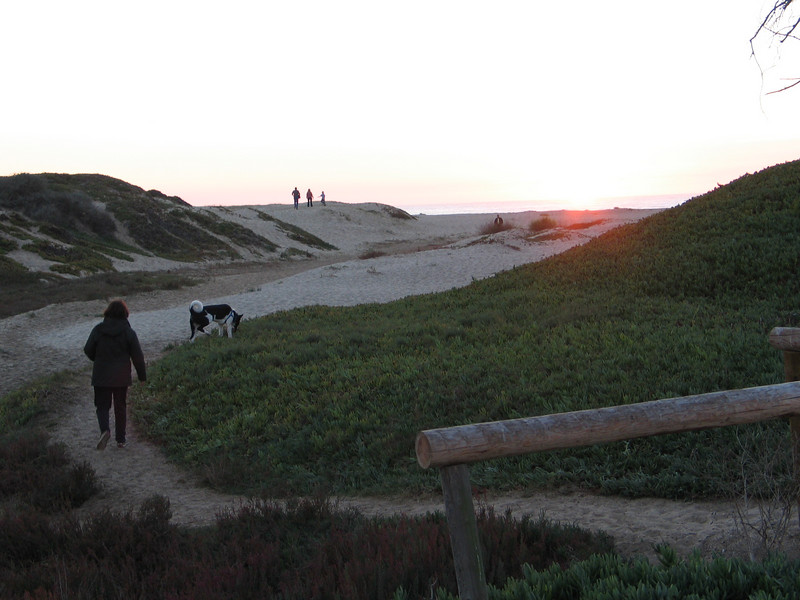 Pismo Beach State Park. Heading for the sunset.