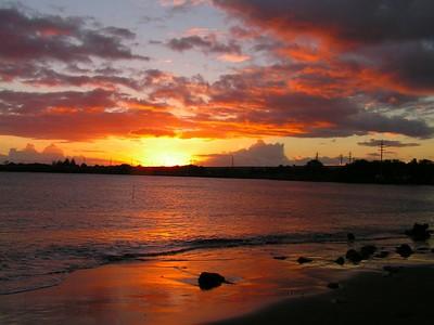 PICT3411s, sunset at Port Allen Park, aug 20, 2005a